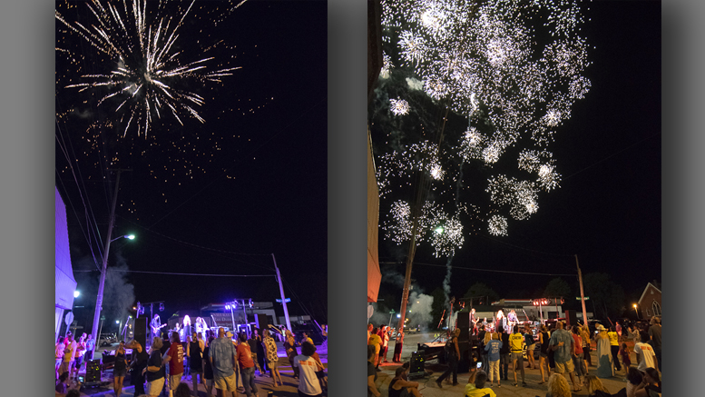 Amazing fireworks at the Gaston Henry Lee Summer Concert. Photo by: Mike Rhodes