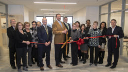 A ribbon cutting was held this morning celebrating the opening of the IU Health School of Health Sciences and Ball Brothers Foundation School of Nursing wings in the John and Janice Fisher Building at Ivy Tech Community College's Muncie Campus. Photo by: Mike Rhodes