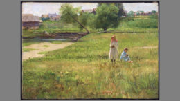 Summertime, 1890, John Ottis Adams, American (1851-1927), oil on canvas, David Owsley Museum of Art; Frank C. Ball Collection, gift of the Ball Brothers Foundation, 1995.035.041