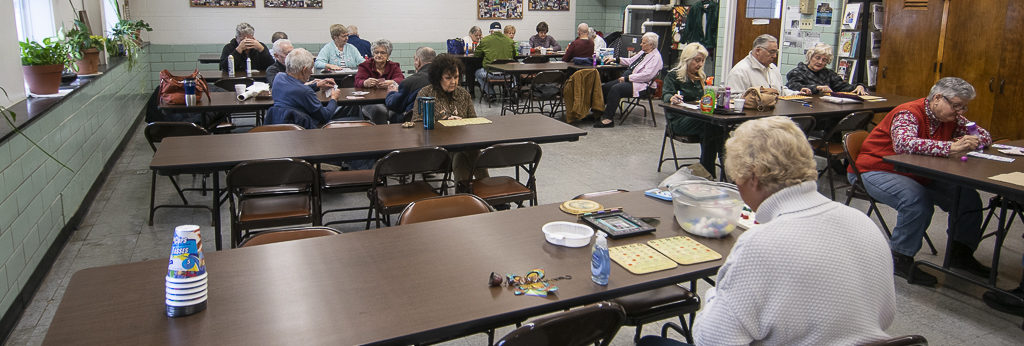 An early morning Bingo game in progress at the Muncie-Delaware County Senior Citizens Center. Photo by: Mike Rhodes