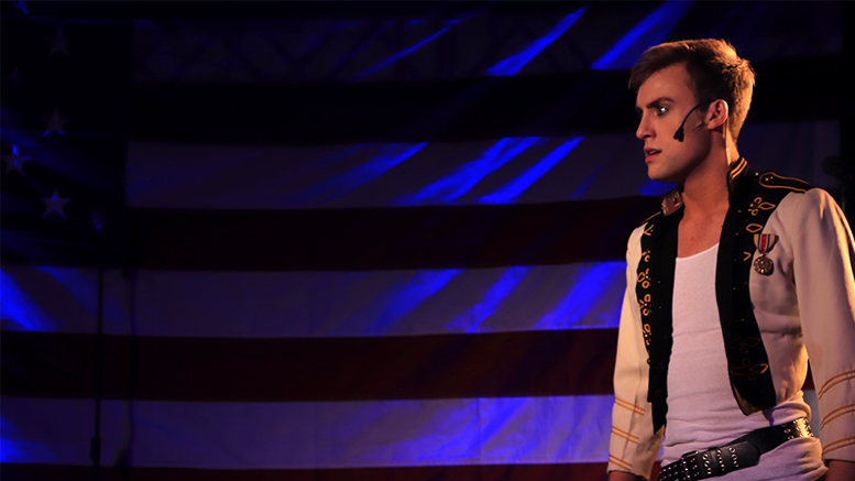 Austin Marchino playing Andrew Jackson. Photo by: Chase Cantwell