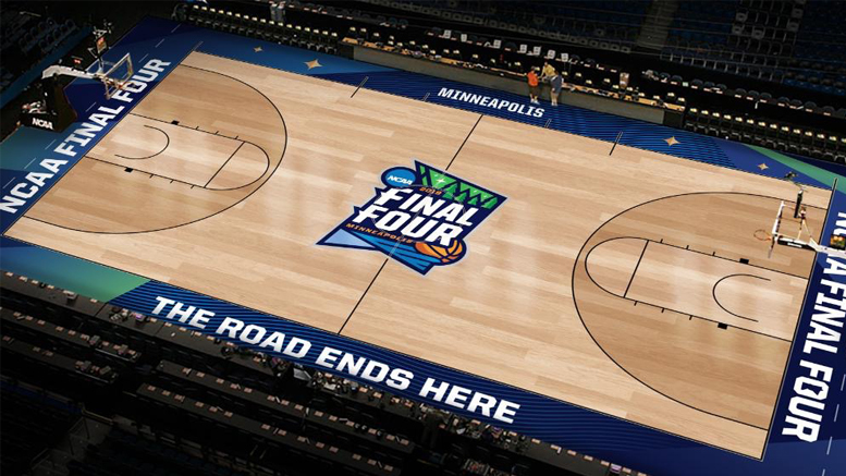 Connor O'Malia, a 2013 Ball State graduate, has unveiled his design for the basketball court that will host the 2019 men's basketball Final Four in Minneapolis. Photo courtesy of Connor O'Malia.