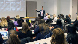 Michael Wolfe from Ontario Systems is pictured presenting at a previous WWiT conference. Photo provided.