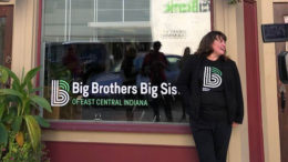 Sue Godfrey is pictured outside the offices of Big Brothers Big Sisters of East Central Indiana. Photo provided
