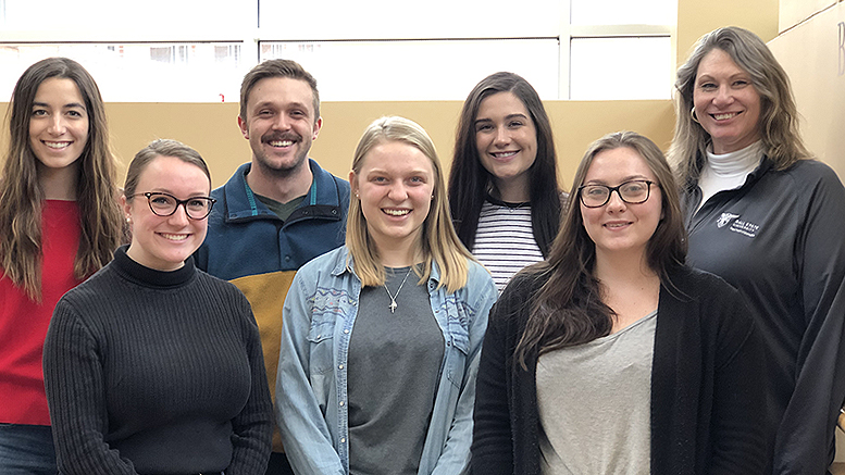 Pictured left to right: Claire Demirjian, Jillian Wilschke, Eddie Metzger, Kelli Reutman, Alissa Brewer, Michaela Dean, Michelle O'Malley. Photo provided