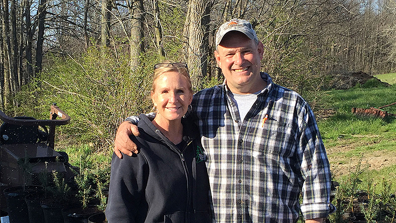 Amy and Tony Evans, Owners of Evans Pines Nursery in Albany.
