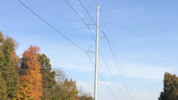 The Southern Muncie Area Improvements project involves upgrading about 3 miles of electric transmission line, building a new substation and upgrading several area substations in Delaware County. Aging wood poles will also be replaced with steel monopoles. (Pictured.) Photo provided
