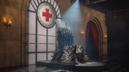 "Those who donate blood by April 30 will be automatically entered for a chance to win a full-size ""Iron Throne"" from HBO's Game of Thrones. Photo provided"