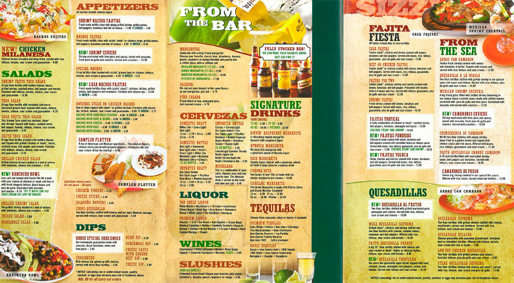 Click on the image above to open a PDF file containing Casa Del Sol's complete menu.