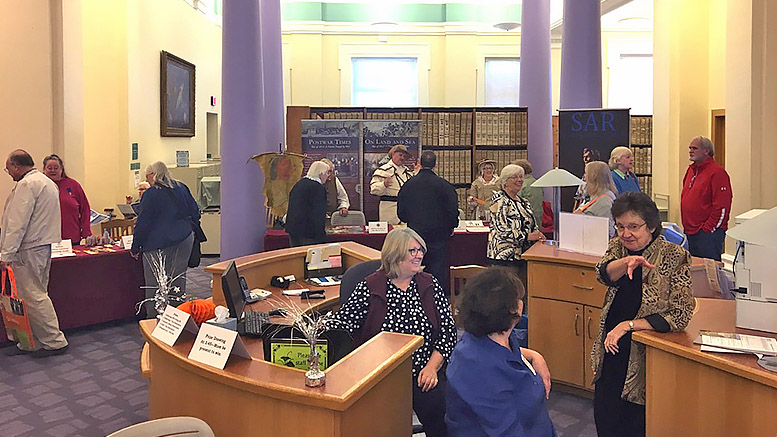 A scene from last year's Genealogy Information Fair. This year's event adds new groups to speak with and a free beginning Genealogy workshop. Photo by: Muncie Public Library