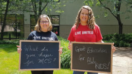 Pictured L-R: United Way of Delaware and Henry Counties Director of Resource Development Denise King and Muncie Community Schools parent and advocate Stephanie Johnson. Photo provided