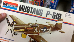 This model of American ace James Howard's P-51B Mustang is found at Toys Forever Models & Hobbies, 300 S. Walnut Street. Photo by: John Carlson