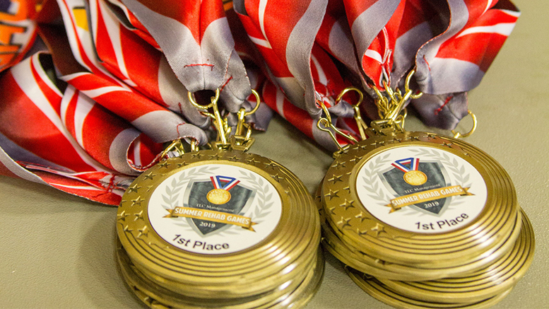 Summer Rehab Games medals are pictured. Photo provided