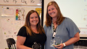 Courtney Crabtree (left) and Sarah Hill (right) have been awarded the Robert P. Bell Creative Teaching Award to recognize their innovation through collaboration in the classroom. Photo provided