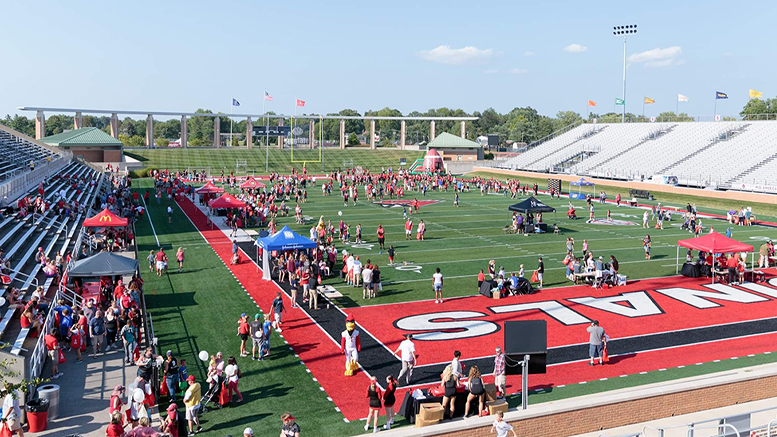 A prior year's Fall Fan Jam. Photo provided by: Ball State Sports