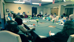 An early meeting of the Ludingwood Neighborhood Association. Photo provided