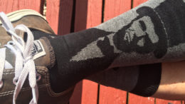 Nothing enhances a foot's look like an Abe Lincoln sock. Photo by: Nancy Carlson