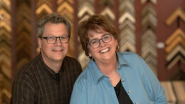 Carl and Barbara Schafer, owners of Gordy, each have over 25 years of museum experience. They understand the balance of preserving and creating a visually interesting framed work. Photo provided