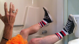 This is a recreation of Bubba's bathtub trauma. Photo by: Nancy Carlson