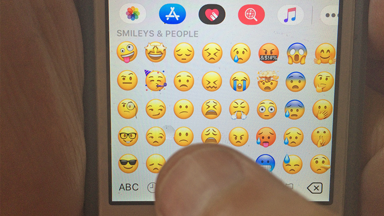 At least scrolling past emojis keeps your fingers nimble. Photo by: Nancy Carlson