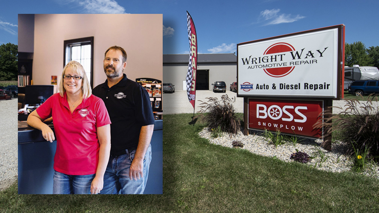 Kristi and Wade Wright, owners of Wright Way Automotive and Collision Repair in Albany, IN