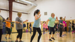 Cardinal Zumba participants are pictured enjoying their exercise class. Photo provided.
