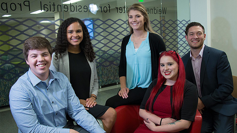 2018 Startup Weekend Muncie winning team (Button Buddy). From left to right Austin Hollowell, Esther Bryant, Rachel Hafley, Brandi Lambertson, and Michael Garrity. Photo provided