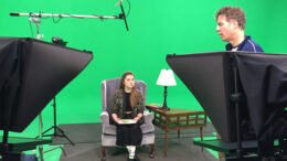 A scene from a video production in progress. Photo provided