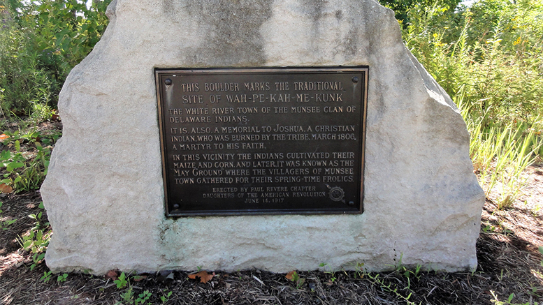 Daughters of the American Revolution Marker at Minnetrista. Photo provided