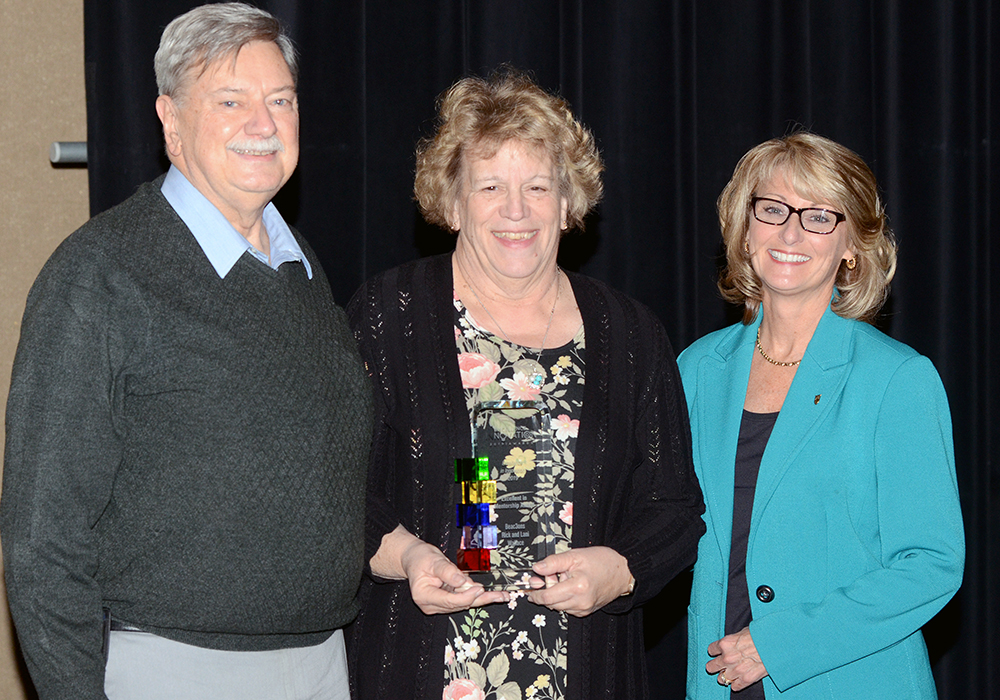 Excellence in Mentorship Award: Rick and Lani Wallace. Photo by: Kyle Evans
