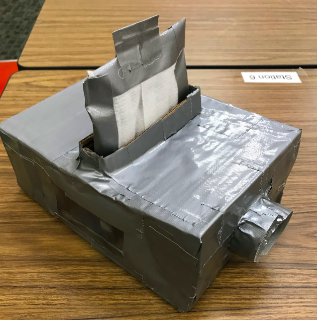 Sample Air Filter made by Yorktown Middle School Students
