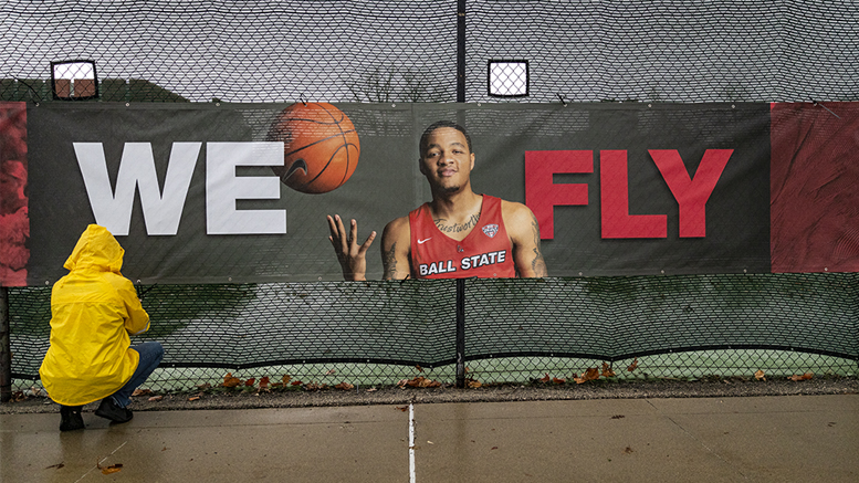 "Ball State is updating its 'We Fly"" marketing campaign with new banners across campus, new television commercials and more. Photo provided"