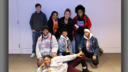 Kari Wissel is pictured with some of the Muncie teens TeenWorks serves. Photo provided