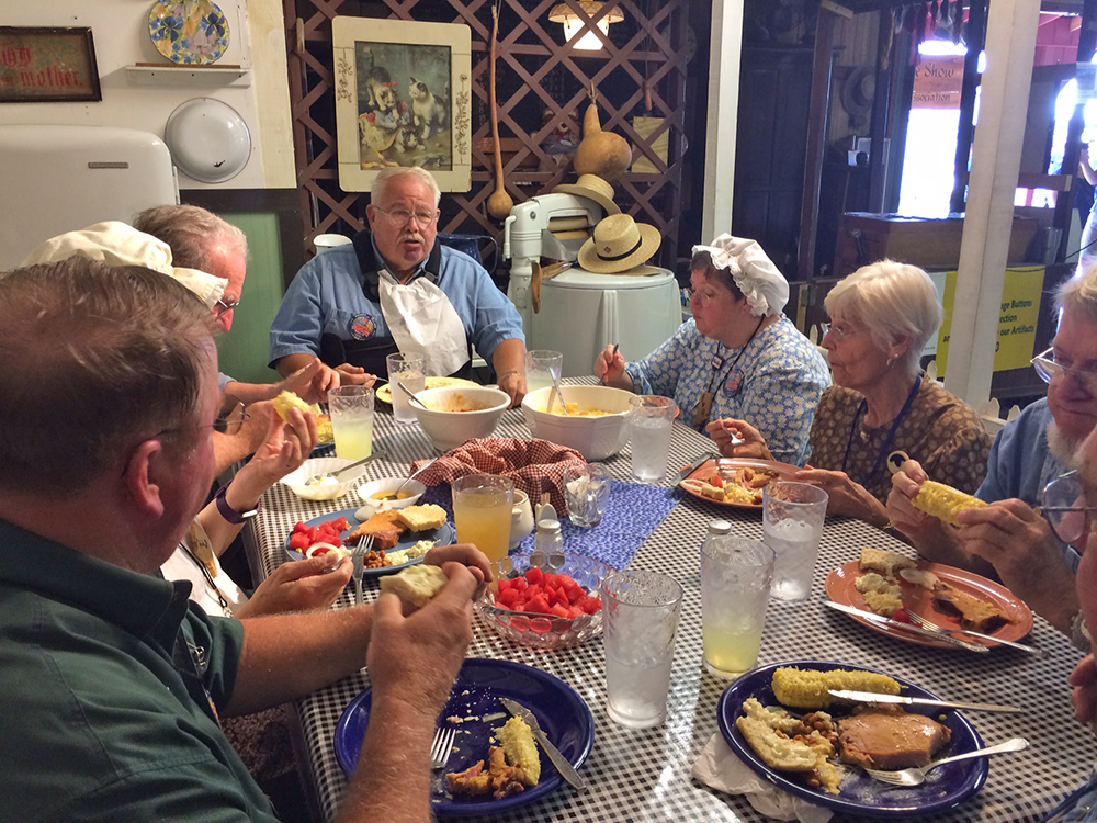 Old-timey fare is the favorite of diners in the Pioneer Village. Photo by: Nancy Carlson