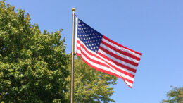 Our American flag waving under an azure sky is a beautiful sight indeed. Photo by Nancy Carlson