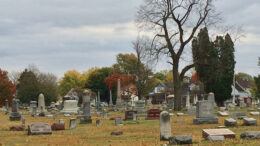 Interesting headstones sprout from Beech Grove Cemetery's old sections. Photo by Nancy Carlson