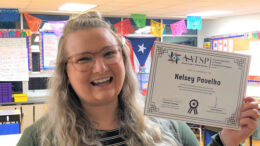 Kelsey Pavelka— Outstanding Dual Language Teacher. Photo provided