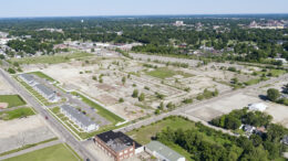 An aerial view of the 53-acre main parcel of RACER's former General Motors property. Photo provided by RACER Trust.