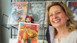 Christina Blanch, owner of Aw Yeah comics. Photo by Matt Howell