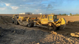 Equipment breaks ground on the INOX facility on South Cowan Road in the Industria Center. Photo provided