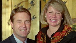 Former Indiana Governor Evan Bayh and Former First Lady Susan Bayh are pictured in earlier days.