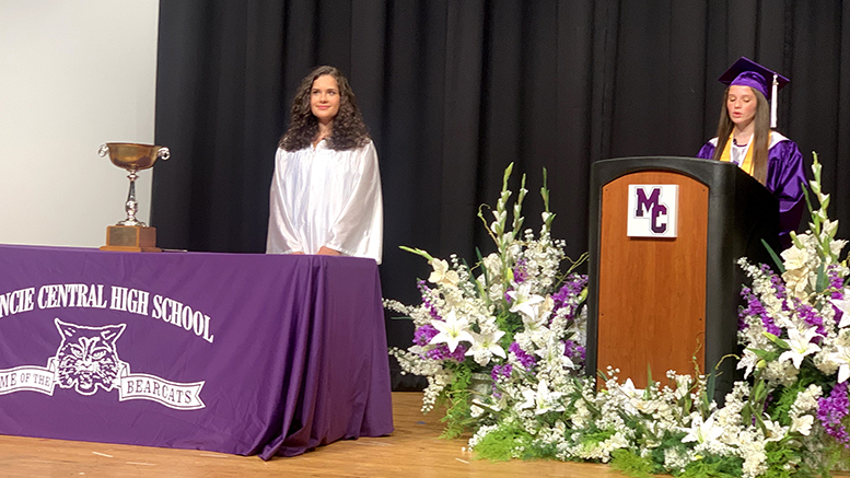 The MCHS 2020 graduation ceremony was held in the MCHS auditorium. Photo provided